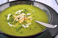 Cleansing Spinach & Leek Soup (Paleo, GF)