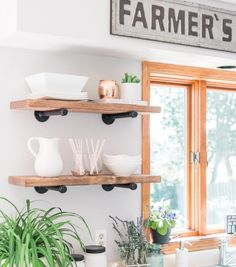 Industrial Shelves with Black Pipes, Metal Pipe Brackets, Rustic Wood & Pipe Shelves, Shelf, Pipe Shelf, Metal Pipe, Industrial Shelf