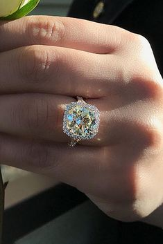If the diamond is actually light yellow, I LOVE it!!!
