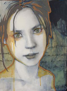 Joan Dumouchel ~ Sophie (mixed media on canvas Interpretació rostre i poesia