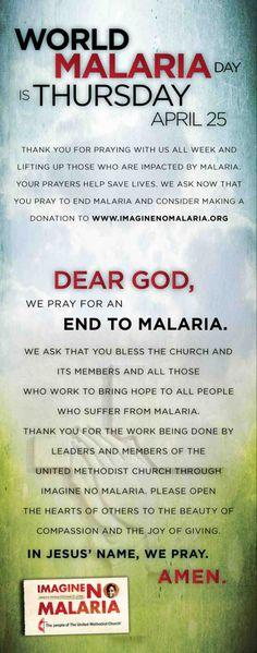 World Malaria Day www.imaginenomalaria.org/sharethelove