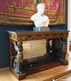 Arts décoratifs Premier Empire - Pierre-Philippe Thomire : Console (1800-06 - Louvre)