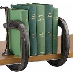 C-clamp book ends- love it!