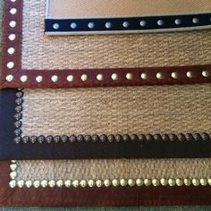 Love this trim for sisal rugs! Beatrice & Martin Phila.