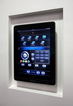Wall mounted #iPad to control all AV devises in any room or property ... oh and it charges whilst mounted too .. #perfect! www.pixelprojects.co.uk