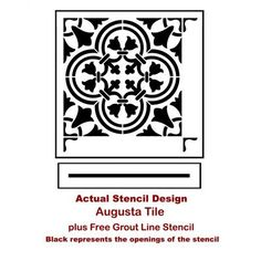 The Augusta Tile Stencil from Cutting Edge Stencils. http://www.cuttingedgestencils.com/augusta-tile-stencil-design-patchwork-tiles-stencils.html