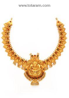 22K - 22 Karat Gold Necklaces - Diamond Necklaces - Ruby & Emerald Necklaces