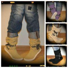 http://en.dawanda.com/product/60702591-Crochet-Stiefel-Sommerstiefel-Frau-Hippie-Volks