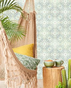 Eijffinger wallpaper Carmen collection Article number: 392575 This blue tiles are made with inspiration from Mexico. These mexican tile creates a character wall in every interior. How To Hang Wallpaper, Wall Wallpaper, Tactile Texture, Photo Mural, Tile Murals, Blue Tiles, Interior S, True Colors, Hammock