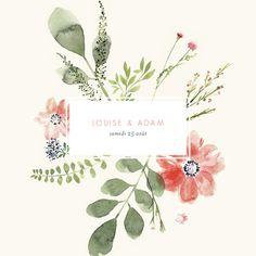 Annoncez le jour de votre union avec le faire-part de mariage Fleurs aquarelle. Ce design, bucolique et floral est parfait pour un mariage printanier avec un thème nature et délicat. Ce faire-part est parfait pour les ...