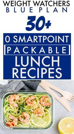 Weight Watchers Blue Plan (Freestyle) 0 SmartPoint Packable Lunch Recipes Galore - If you just joined WW and chose the myWW Blue Plan, here are over 30 Weight Watchers Easy Make Ahea - Weight Watchers Snacks, Plan Weight Watchers, Salade Weight Watchers, Weight Watchers Smoothies, Poulet Weight Watchers, Weight Watchers Smart Points, Weight Loss, Weight Watchers Chicken Salad Recipe, Lunches