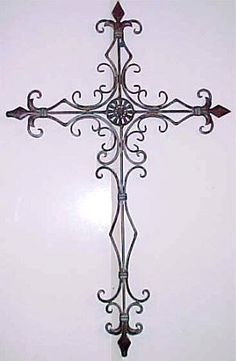 Wrought Iron Metal Cross Decorative Wall Hanging
