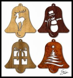 Here is a collection of twelve easy to cut Christmas ornament patterns.         The Scrollsaw Workshop is primarily supported by donation...