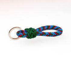 Key fob/ 8 strand square braid and Gaucho knot, Type 1 accessory cord