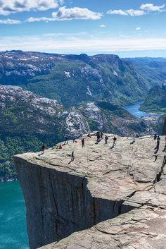 Natural High - Preikestolen/Pulpit Rock - Norway. Photo: Jim Boud