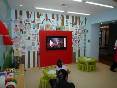 play room, daycare, A daycare designed for Casacor Interior design Show in collaboration with architects Juan Manuel Rodriguez and  Jose David Jimenez, the kids drawings are the fruits of the trees , Other Spaces Design
