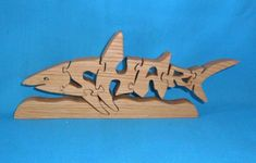 Shark Handmade Wooden Scroll Saw Puzzle by huebysscrollsawart, $12.00