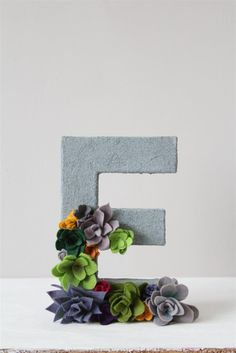 I had a couple of cardboard letters that I'd bought a few years ago, so, since E is the initial of both my blog and myself, I thought ...