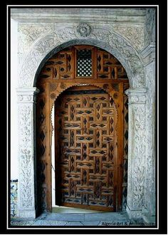 Beautiful door from Algeria http://premiumdoorstripping.co.uk