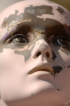 Lost | Forgotten | Abandoned | Displaced | Decayed | Neglected | Discarded | Disrepair | old chipped Mannequin