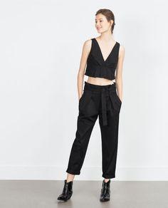 Image 1 of GATHERED POPLIN TOP from Zara