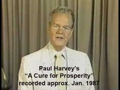 Paul Harvey's Easter message was told and retold countless years. His message includes the story about a bird and a cage. He also ends the message with the shortest ever Easter sermon. I loved this story growing up and heard it every Easter! Paul Harvey 1965, Paul Harvey Quotes, Easter Messages, I Know The Plans, Political Quotes, Christian Movies, The Orator, Truth Hurts, Famous Men