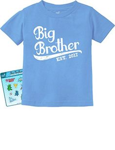 TeeStars  Gift for Big Brother 2017 ToddlerInfant Kids TShirt 12M California Blue * See this great product. (This is an affiliate link) #BabyGirlTops
