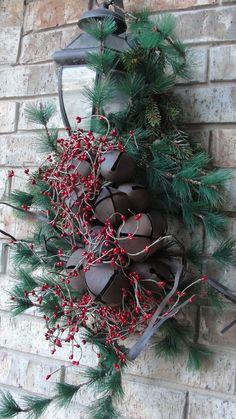 holiday, outdoor light, christma decor, jingle bells, wreath, hous, deck, berries, parti