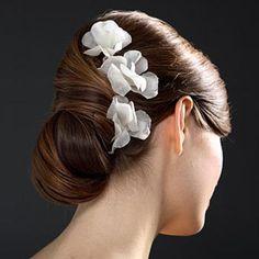 peinado con flores :)