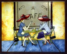 L'atelier de Francine: faux vitrail 3d Cards, Kitchen Art, Painting Inspiration, Stained Glass, Glass Art, Mosaic, Passion, Deco, Canvas