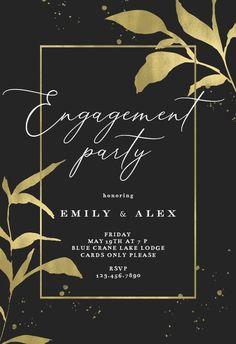 Golden olive leaves - Engagement Party Invitation #invitations #printable #diy #template #Engagement #party #wedding Engagement Party Invitations, Text Messages, Party Wedding, Wedding Engagement, Rsvp, Printable, Leaves, Island, Templates