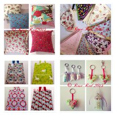 Bunting, cushions, bag and key rings. All handmade by me!