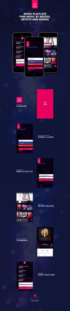 Music app concept UI on Behance