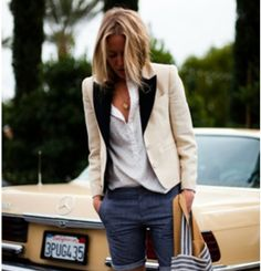 Love the blazer with relaxed styling
