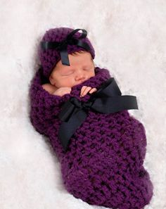 Wildberry Newborn Baby Cocoon Hat Set by BeautifulPhotoProps on Etsy