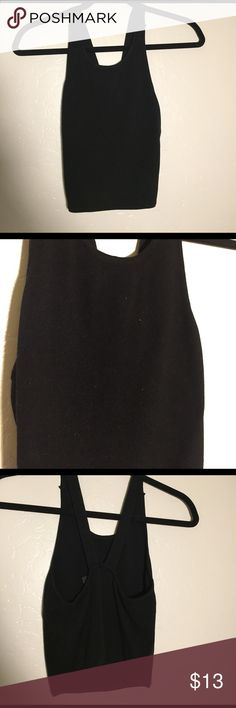Paper Heart Black Ribbed Crop Top Black ribbed crop top in Australian size 8 (equivalent to US xs/s). Perfect condition Brandy Melville Tops Crop Tops