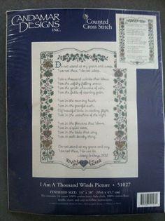 Candamar Designs Counted Cross Stitch I Am a Thousand Winds 1997  #CandamarDesigns