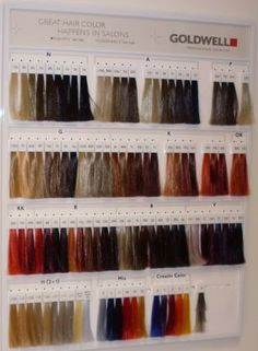goldwell wall chart aveda hair colorhair - Hair Color Swatch Book