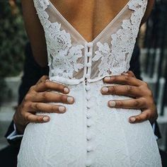 Brides imagine finding the perfect wedding, but for this they need the best bridal wear, with the bridesmaid's outfits actually complimenting the brides-to-be dress. Here are a variety of tips on wedding dresses. Wedding Goals, Wedding Pics, Wedding Engagement, Wedding Planning, Dream Wedding, Wedding Day, Lace Wedding, Wedding Dress Buttons, Hanging Wedding Dress