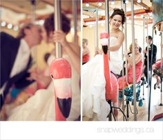 On the merry go round! Romantic shot can we get all the bridesmaids/ groomsmen in a shot?