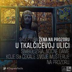 Skulpturu je izradila akademska kiparica Vera Dajht Kralj. Skulptura se nalazi u Tkalčićevoj ulici između dva dijela Kožarske ulice koja je u starom Zagrebu bila poznata po najstarijem zanatu na svijetu. #ZagrebFacts #Zagreb #ZG #Agram #Tkalciceva #Tkalca #Kozarska #StariZagreb #OldZagreb