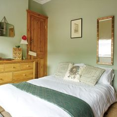 Pretty pale green bedroom | Bedroom decorating ideas | Bedroom | Style At Home | IMAGE | Housetohome