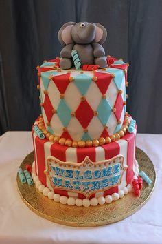 Circus Baby Shower Cake