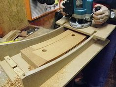 Convex / concave surface router jig