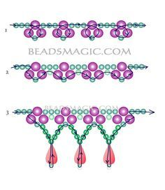 Free pattern for bridal necklace Monica-2