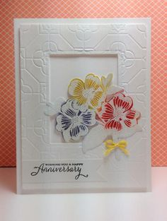 Antique Flowers and Butterflies: HA, white embossed, by beesmom - Cards and Paper Crafts at Splitcoaststampers