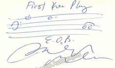 Glass, Philip - Autograph Music Quote Signed
