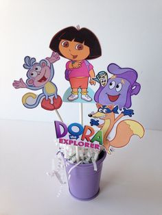 Dora the Explorer Birthday Party centerpiece by AlishaKayDesigns