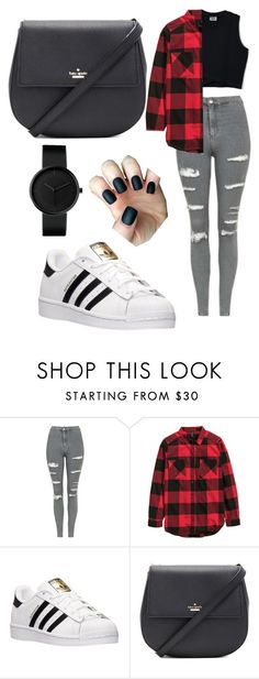 """Untitled #55"" by brooke-carpenter-1 on Polyvore featuring Topshop, adidas and Kate Spade"