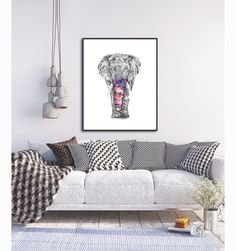 Hand illustrated with love and professionally printed onto Fine Art Matte paper. This gorgeous illustration involved over hours of work. Good Vibes, Couch, Design, Furniture, Illustrations, Home Decor, Settee, Decoration Home, Sofa